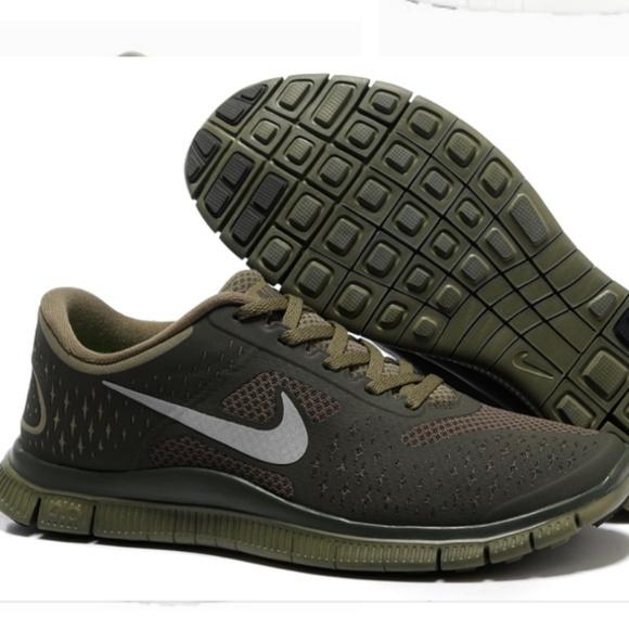 Nike Men Free 4.0 V2 Olive Green Mesh Running shoe